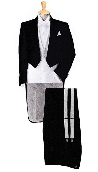 TailCoat(燕尾服:午後5時からの正礼装)